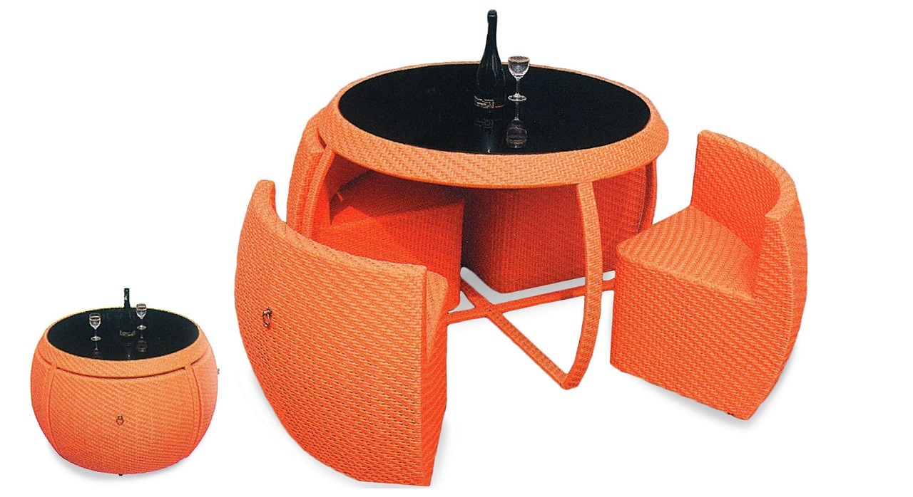 Hawaiian Breeze Outdoor Dining Set - Orange