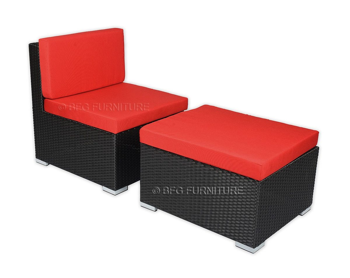 Ponceau Sofa Set Red Cushions Outdoor Furniture Bfg