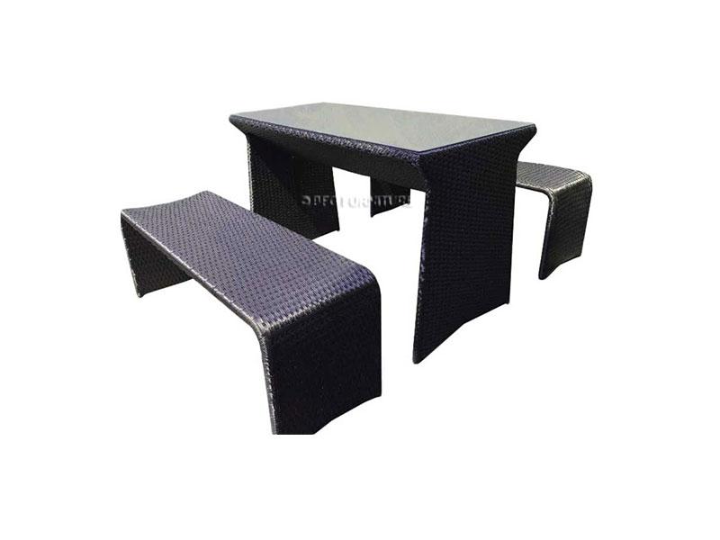 Bfg Rattan Picnic Bench Set