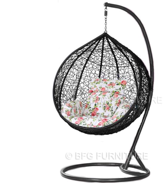 Classic Fleur - Swing Chair (Black)