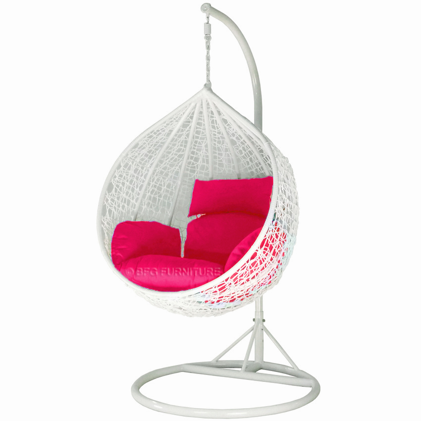 Classic Fuschia- Swing Chair (White)