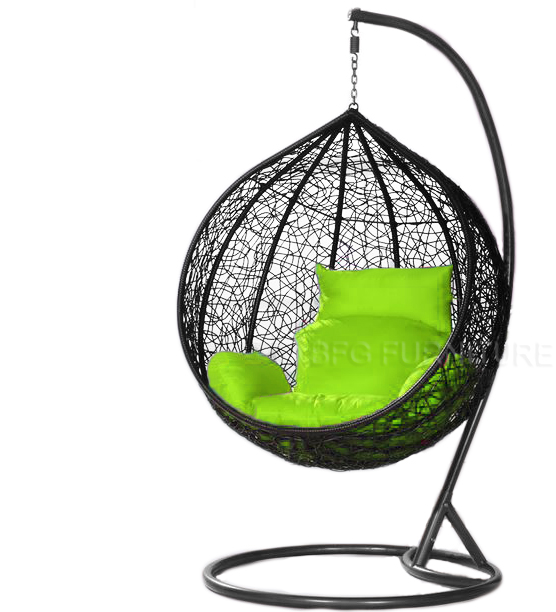 Classic Lime - Swing Chair (Black)