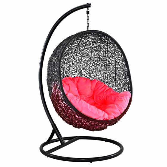Fair Scarlet - Swing chair (Black)