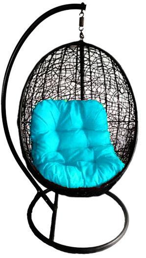 Fair Delphinium - Swing chair (Black)