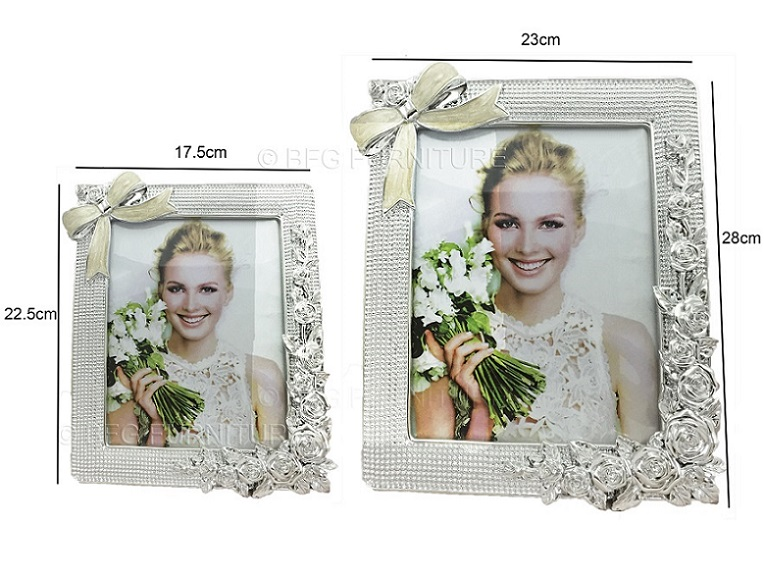 Ribbon Photo Frame (Silver)