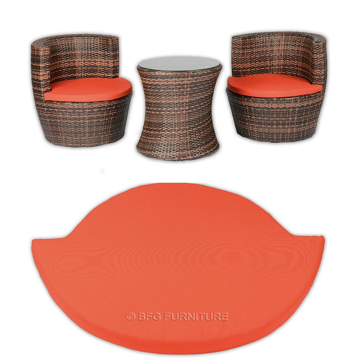 Stackable Cushions - Orange
