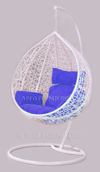 Classic Blue - Swing Chair (White)