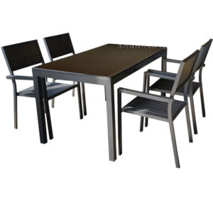 Plumeria 5 Piece Dining Set