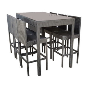 Ambrosia Outdoor Bar Set – Black