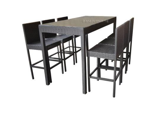 BFG-Ambrosia-Black-Dining-Set