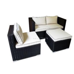 Calla 4 Piece Sofa Set with Cushions