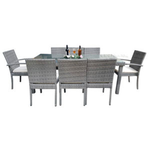 Wisteria 9 Piece Dining Set with Cushion