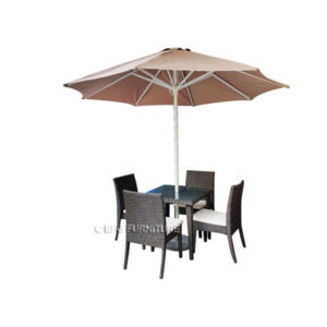 Carina 5 Piece Dining Set with Umbrella