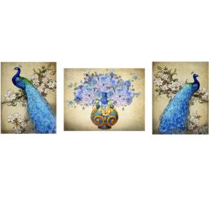 Oriental Peacock Print (Set of 3)
